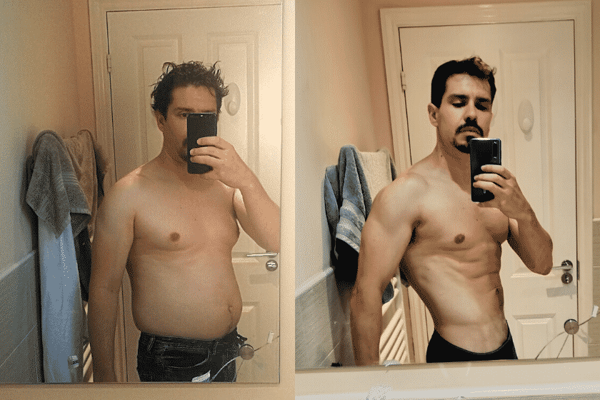 Body Recomposition Build Muscle Lose Fat Transformation
