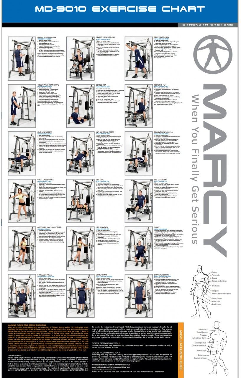Marcy 9010g Exercise Chart